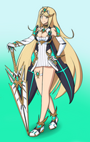 Mythra (Xenoblade Chronicles 2) by kytobitt