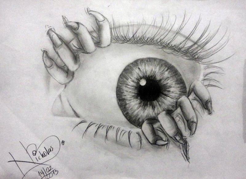 Monster Eyes Drawing Monster eye by nicholasbar