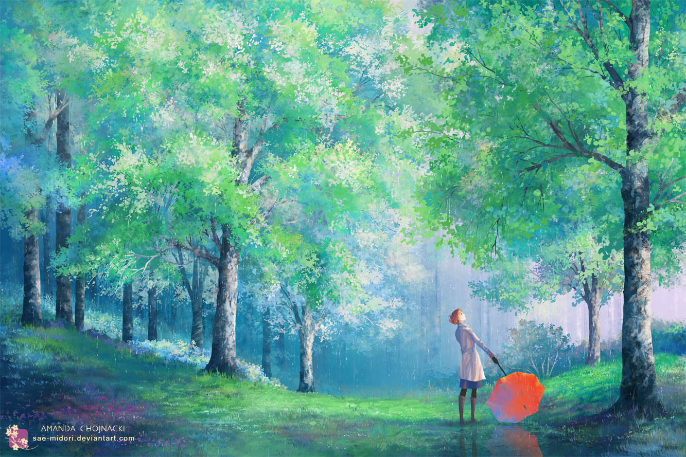 Green Spring Morning by sae-midori