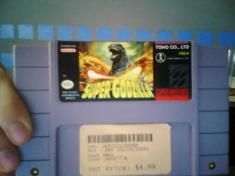 SNES Game-Super Godzilla