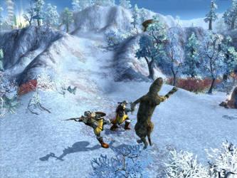 2 Warriors Vs. Smilodon