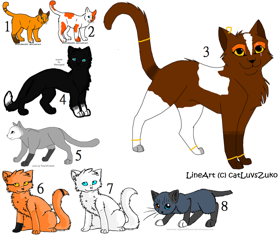 The gallery for gt Cat Clan Lineart