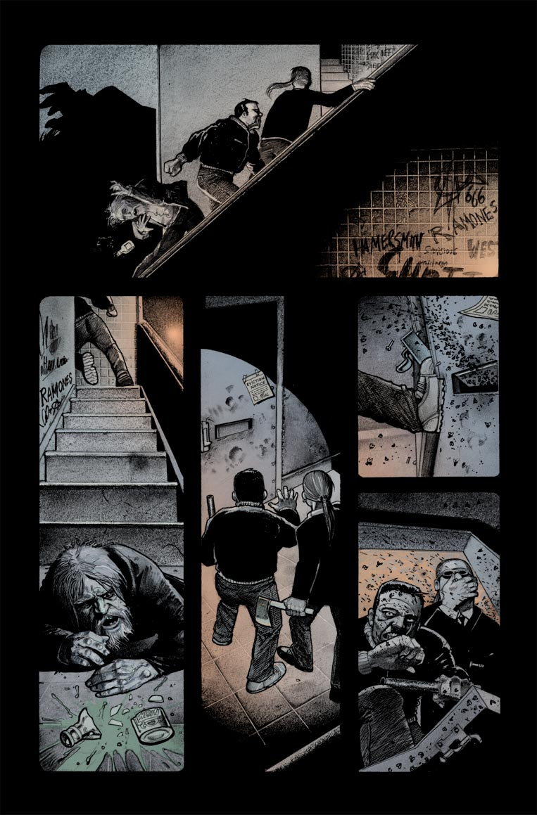 hellblazer 260 page 3 colours by gammahed