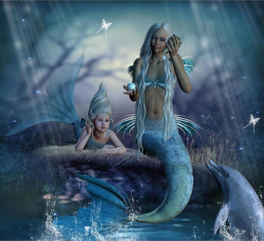 Mermaids Sisters By Adriediana On Deviantart