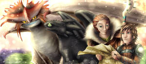 How to train your dragon duo - Valka and Hiccup