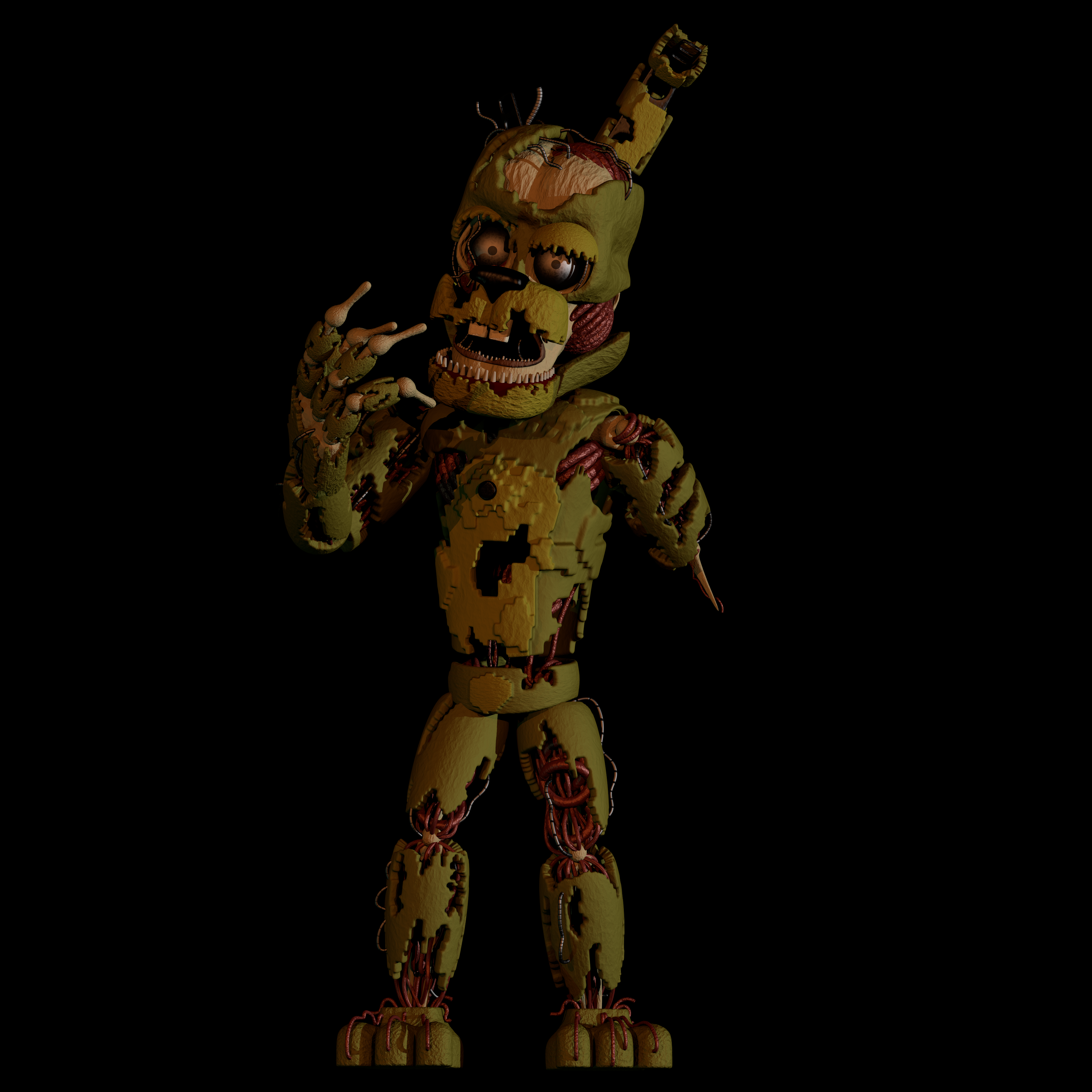 William Afton 'Springtrap' Model by EndyArts on DeviantArt