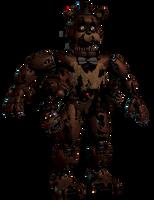 Nightmare Freddy With Freddles by EndyArts