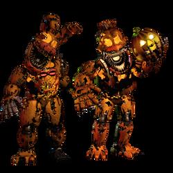 Jack-O-Bonnie and Jack-O-Chica by EndyArts