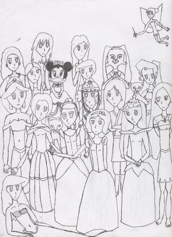 Disney Princess Group Shot By Lja136