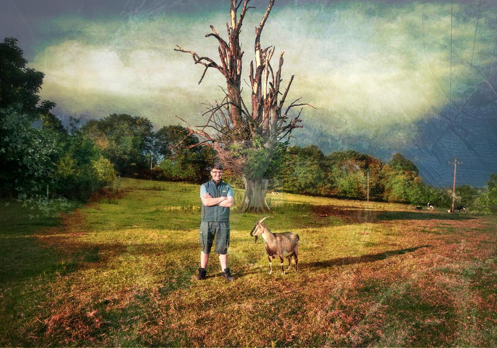 Richard with goat.