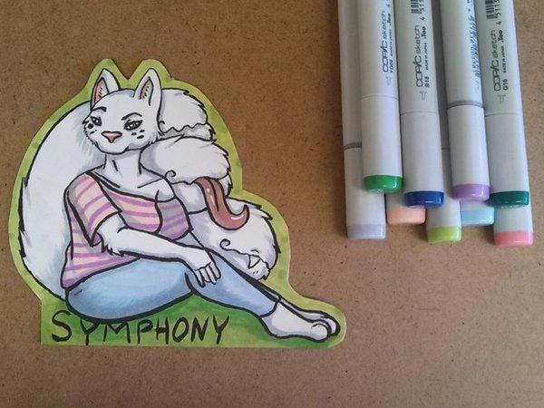 Symphony Full Body Badge