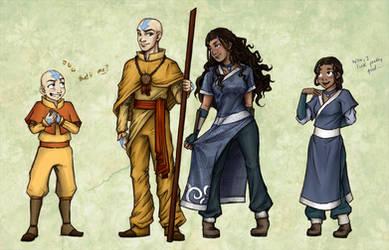 Avatar: Older Kataang Concepts by laiquendi-elf