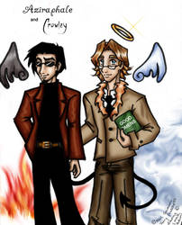 Aziraphale and Crowley by laiquendi-elf