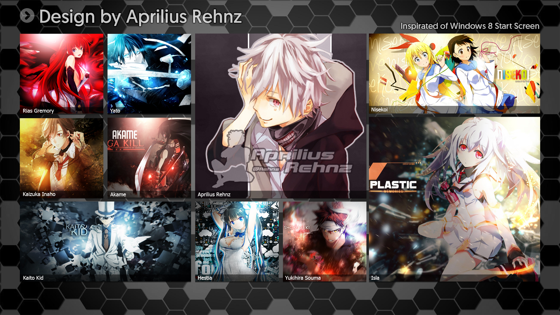 Anime Wallpaper Style Windows 8 Re Design By Apriliusrehnz