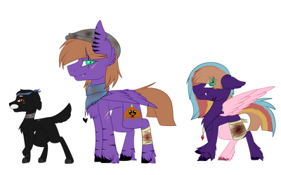 zombie AU- Bee, Wing and Heart Gem ref by WingofPegacraft