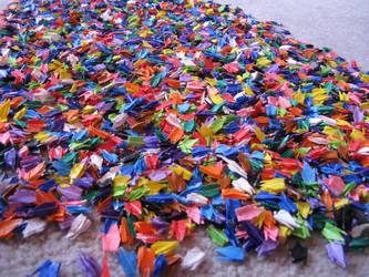 Rainbow Cranes by origami999