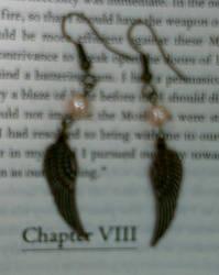 Winged earrings by queenpili