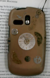 Steampunk phone shell- back by queenpili