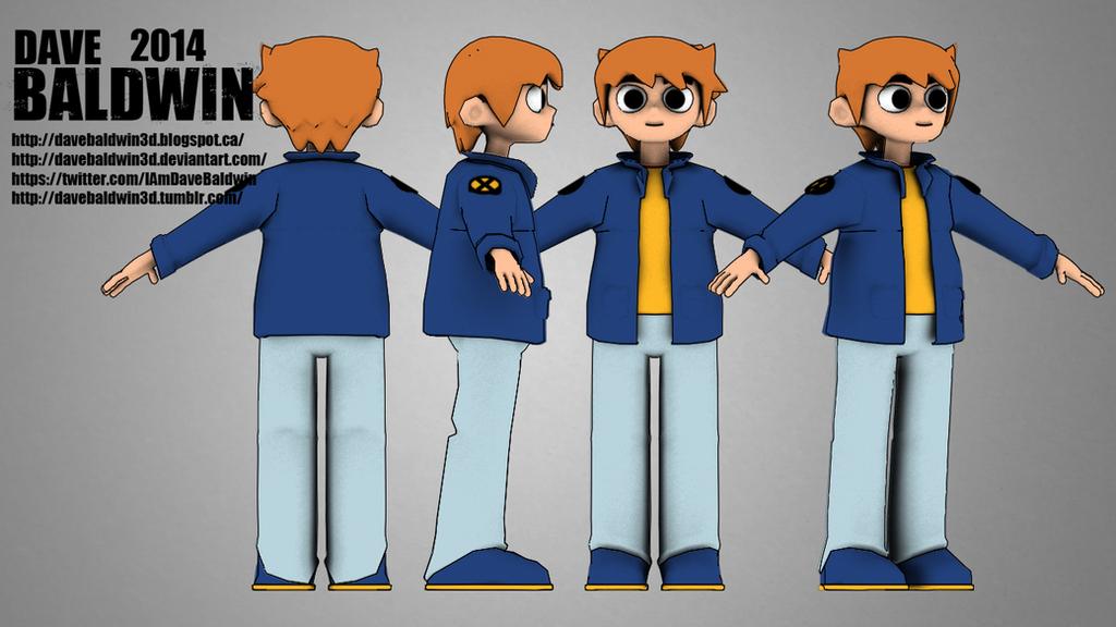 Scott Pilgrim Character model by DaveBaldwin3D