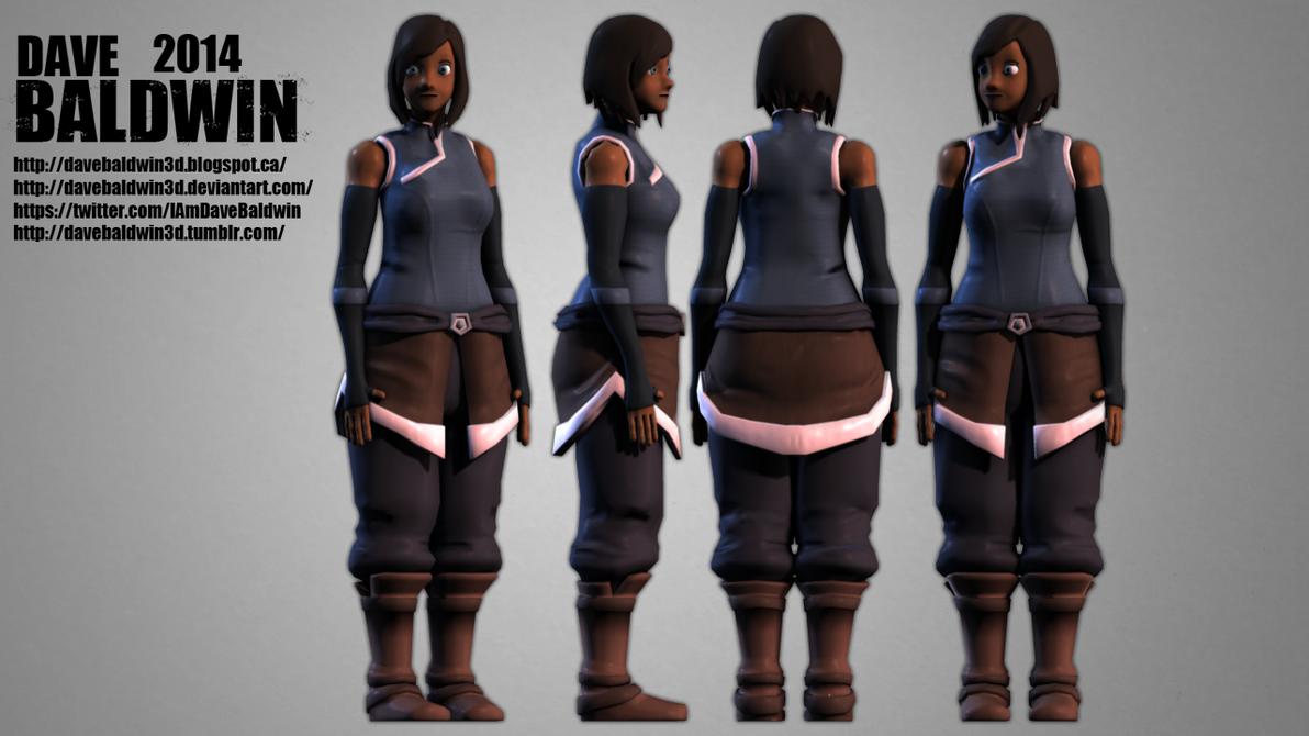 Avatar Korra Character Model by DaveBaldwin3D