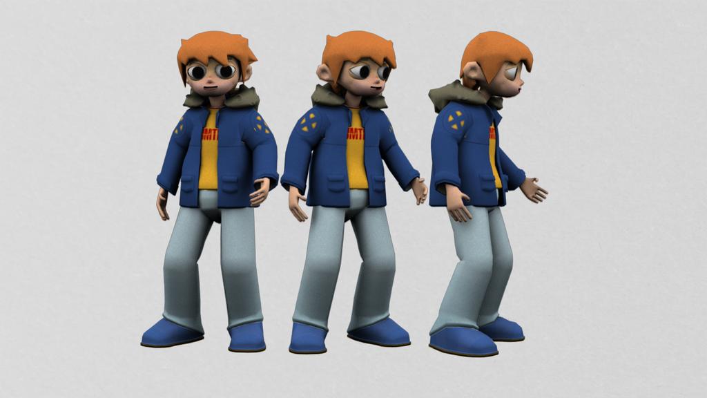 Scott Pilgrim character rig by DaveBaldwin3D