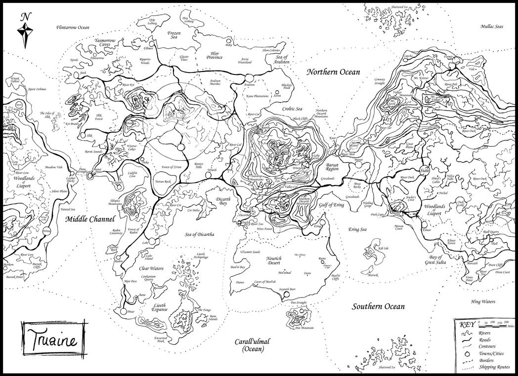 Updated Map of Truaine by TheFS