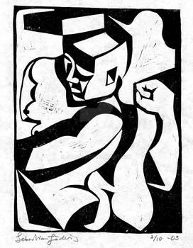 Kubistisk kvinna -03