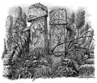 Sebastian Illustration Ancient Ruins 2020