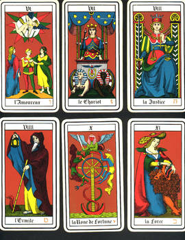 French Tarot Cards 6-11
