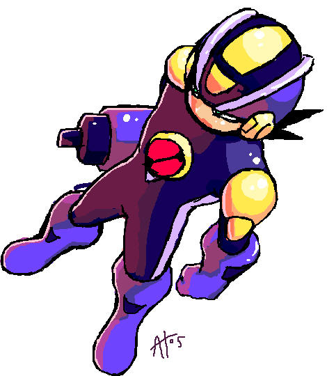 It's Mega Man.EXE by Egoraptor
