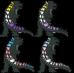 Godzilla Pride Chibis 4 by JustCrafting