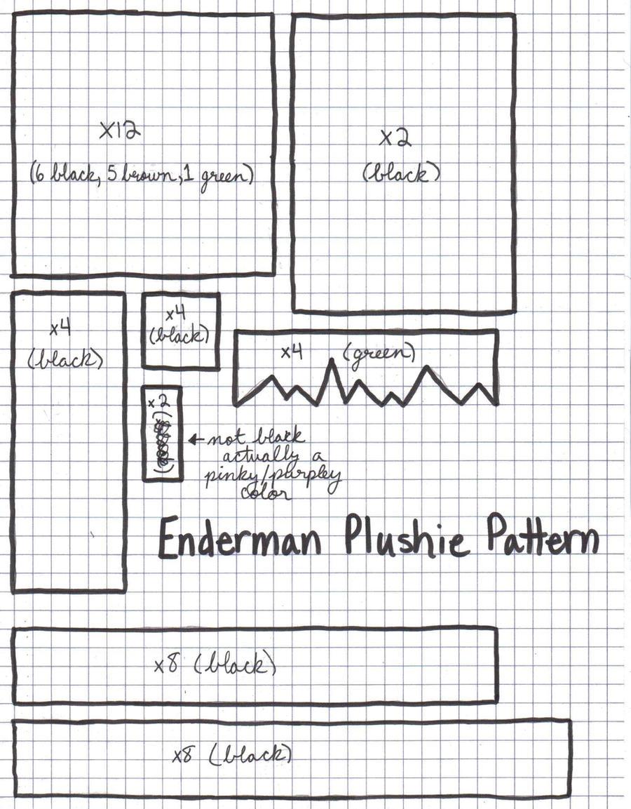 Enderman Plushie Pattern by otterlyadorable