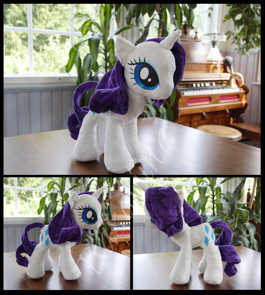 MLP: FiM Rarity plushie (with wired mane) by Rasaliina