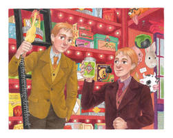 Fred and George  by novahowe