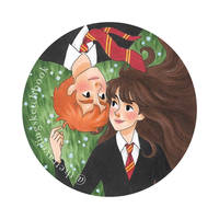 Ron and Hermione  by novahowe