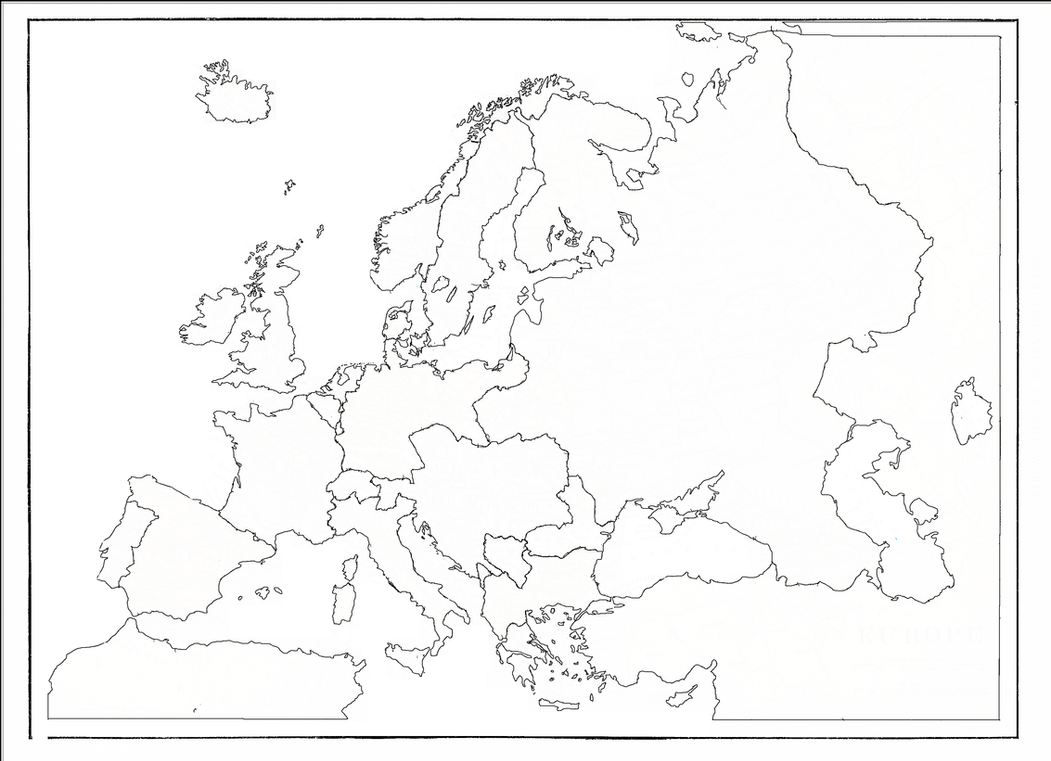 Blank Map Of Europe By EarthCrafter On DeviantArt - Earth blank map