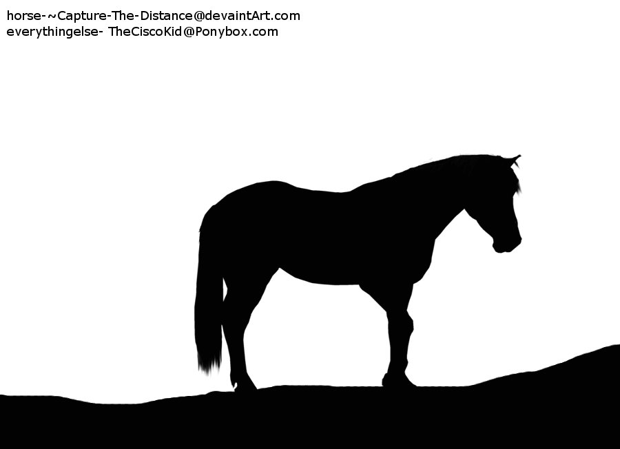 Horse Silhouette Standing Horse Silhouette by