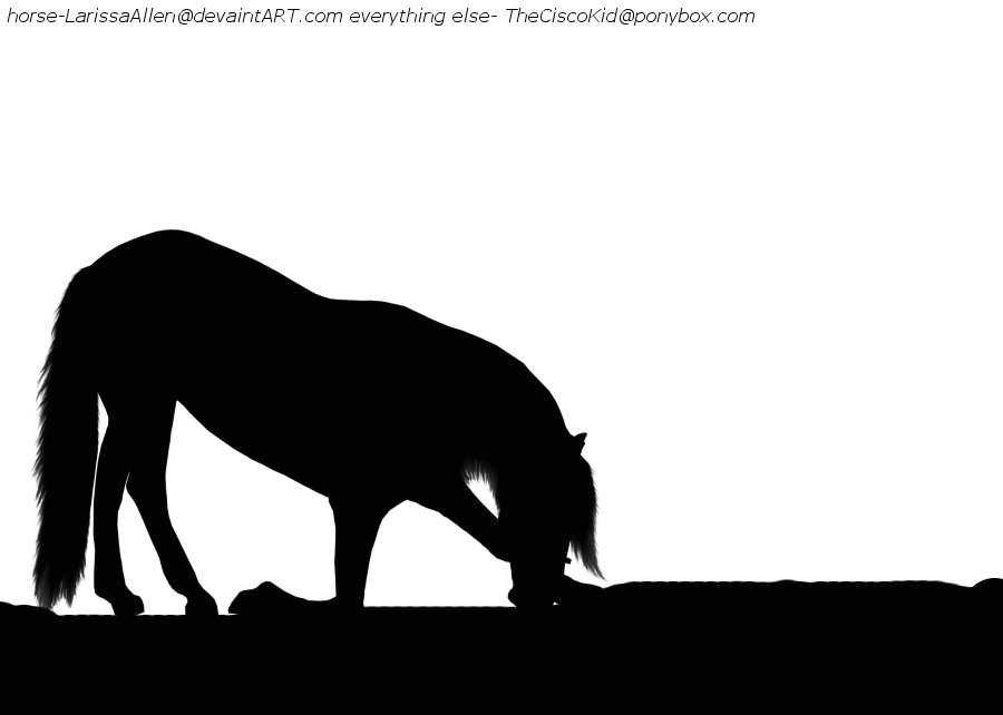Paint Horse Silhouette Bowing Horse Silhouette by