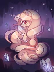 [Commission] crystal unicorn by Avonir