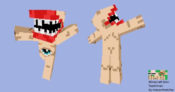 Minecraft Skin Teethman By Masonthekiller On DeviantArt - Minecraft skins fur cracked version