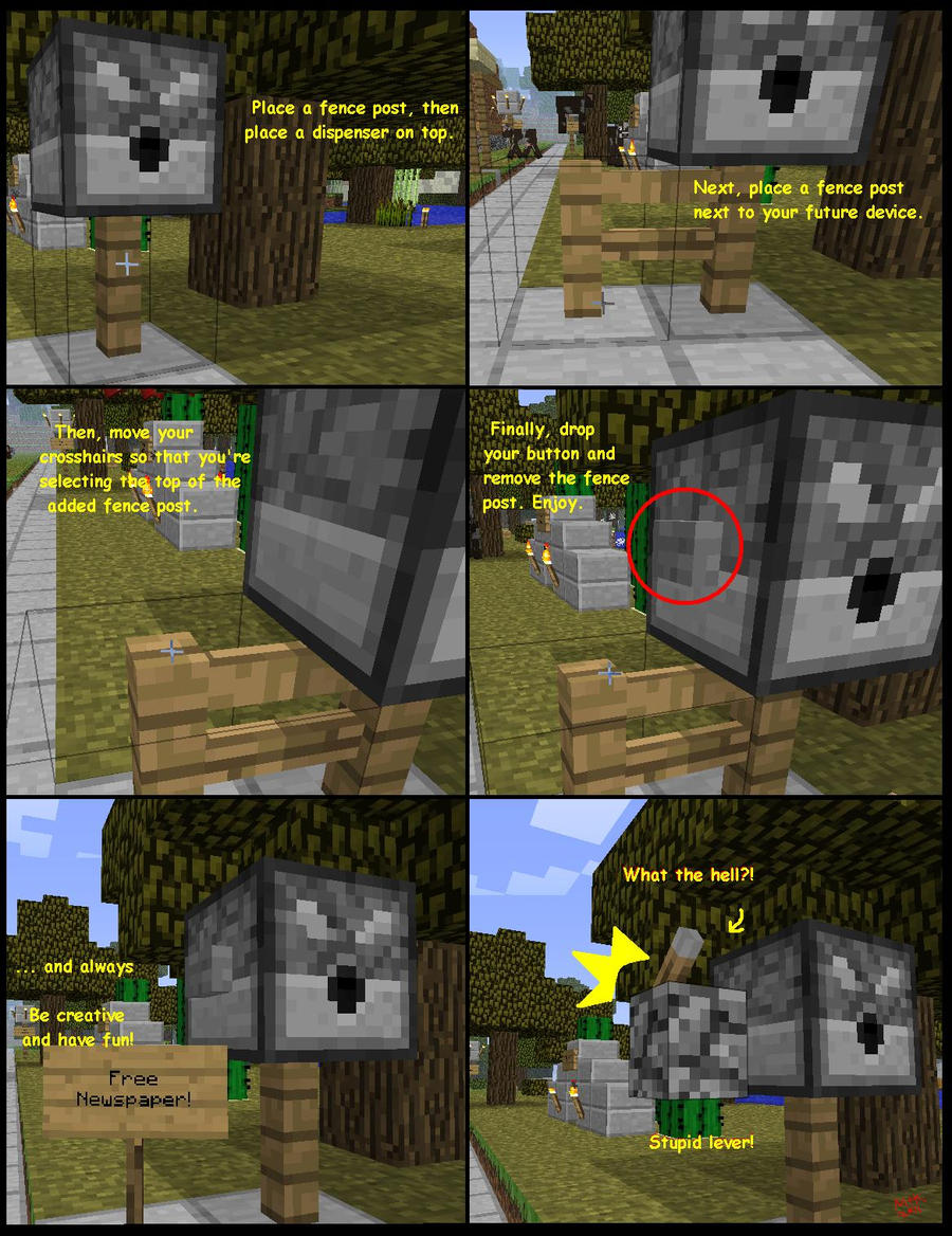 how to make a lever work in minecraft