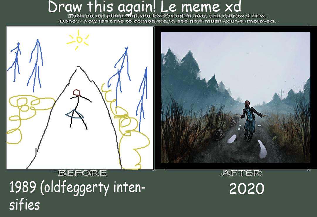 draw it again meme XDD by v33p
