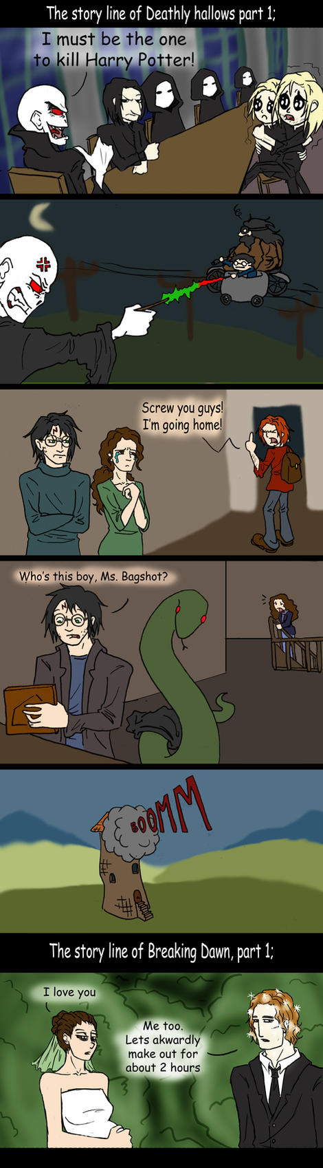 harry potter vs twilight by thegreatestfrog on deviantart
