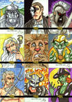 Legends and Lore Sketch Cards