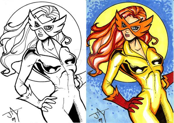 Firestar Sketchcard by Jayson-kretzer