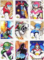 Voltron Sketch Cards by Jayson-kretzer