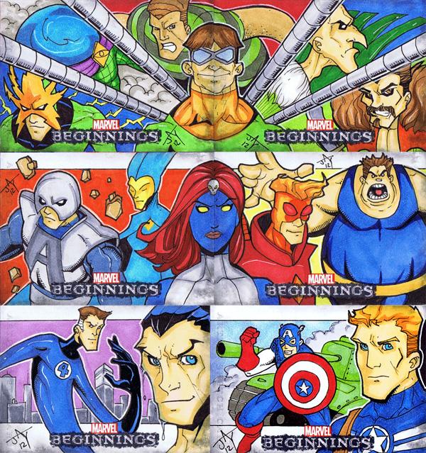 Marvel Beginnings S2 Horizontals by Jayson-kretzer