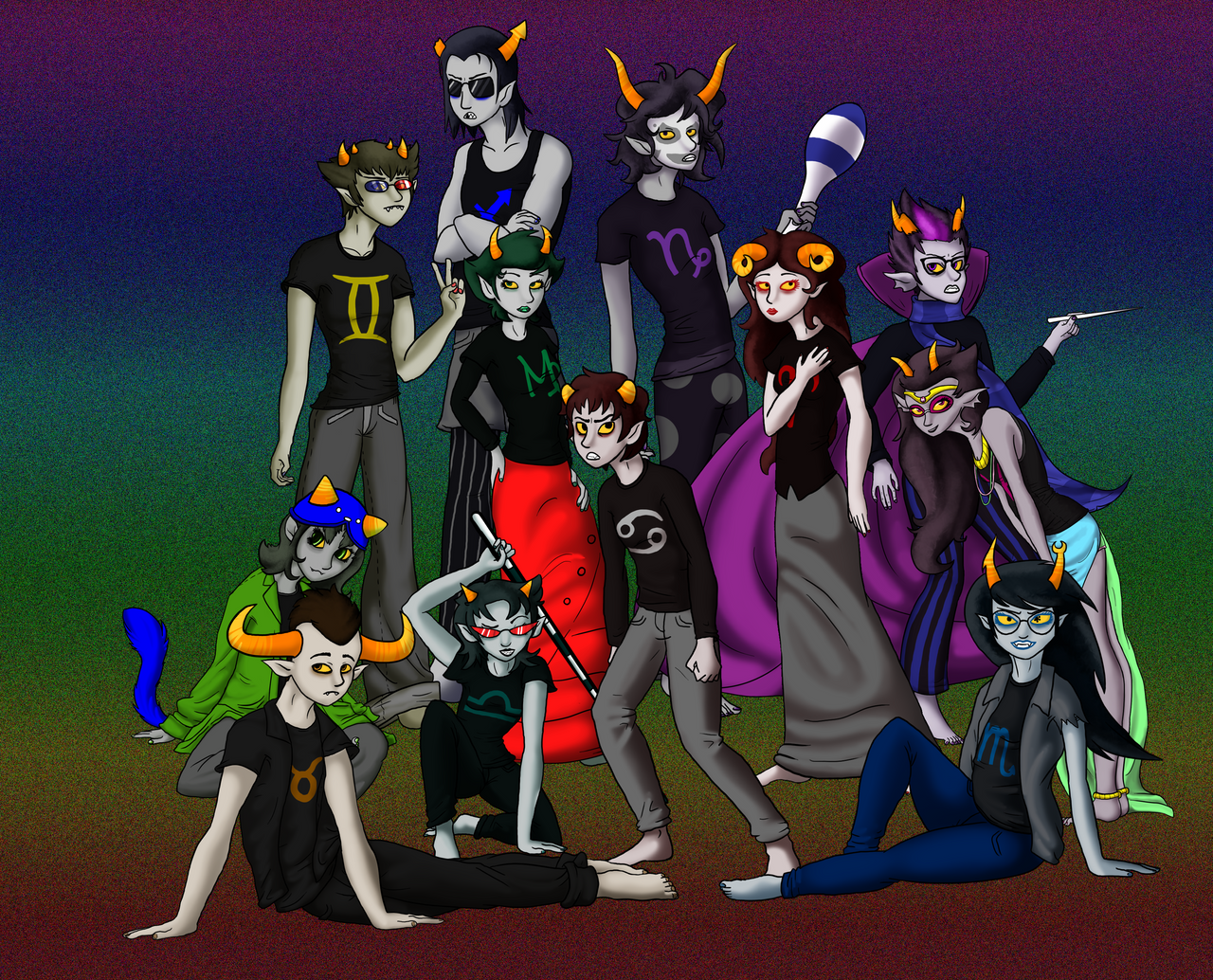 Homestuck trolls by Monodog22
