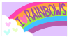 I Heart Rainbows (Stamp) by Kuqqiz