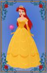 Ariel as Belle (Ball Gown)